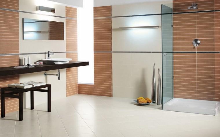 Baldosas Baño Diseno:azulejos baño baldosas pared marrones