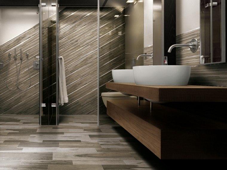 azulejos baño betas diagonales marrones