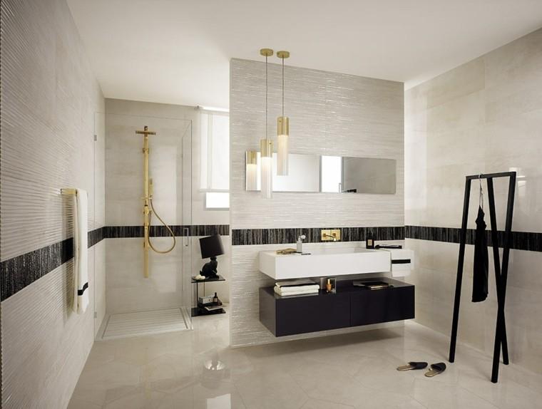 azulejos para baños blanco negro