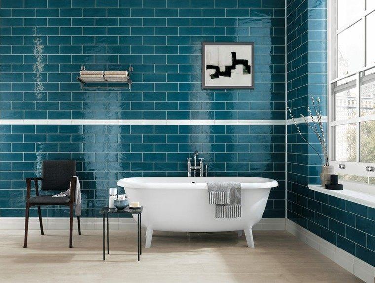 azulejos para baños ladrillos aguamarina