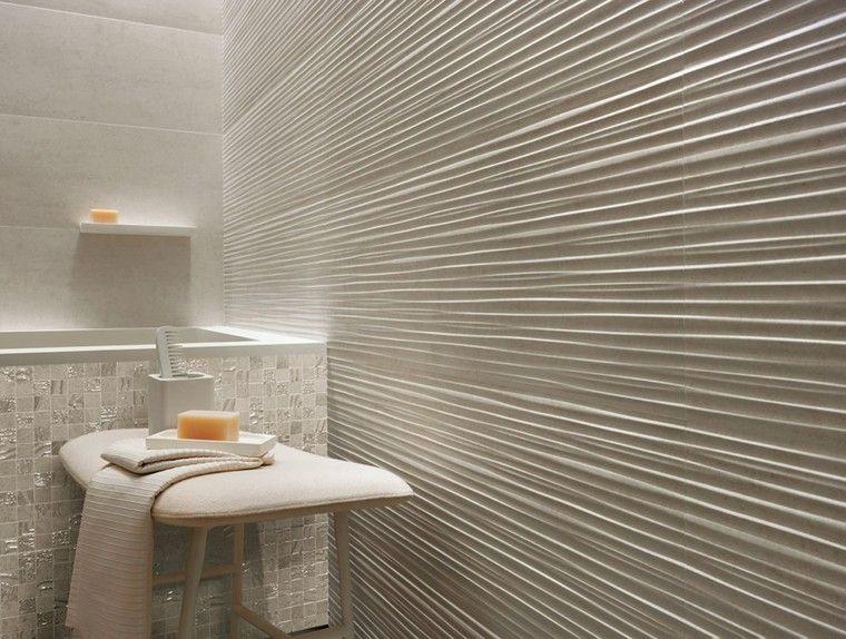 azulejos blancos rayas horizontales pared