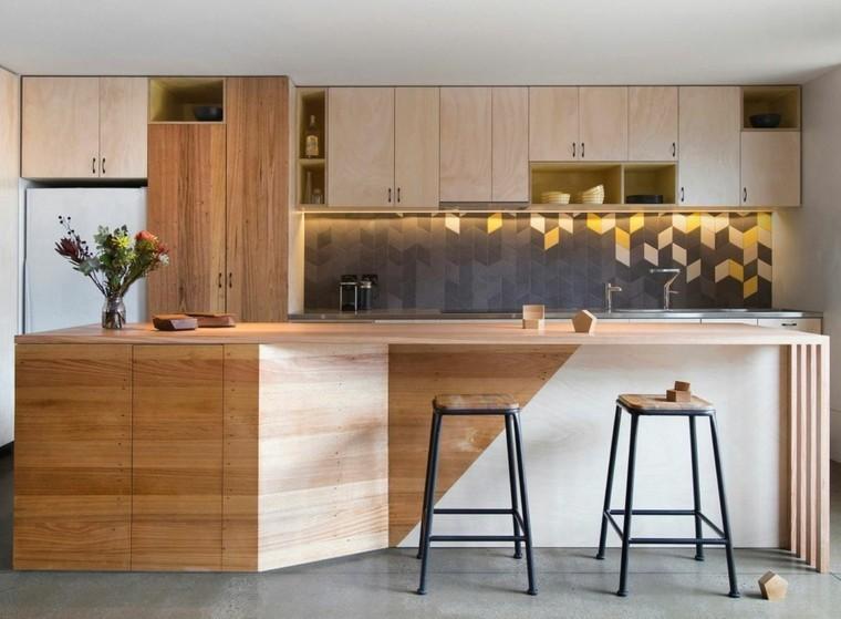 Azulejos cocina y salpicaderos geom tricos retadores - Interiores de cajones de cocina ...