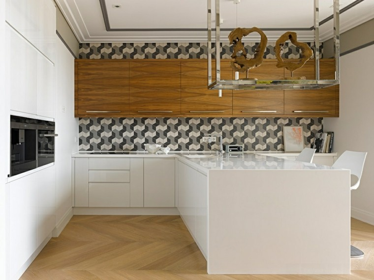 Azulejos cocina y salpicaderos geom tricos retadores - Azulejos cocinas modernas ...