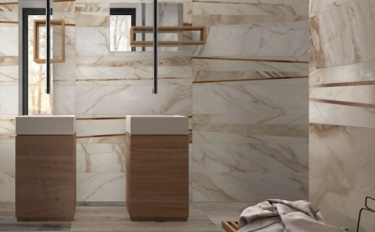 Azulejos para ba os modernos cien ideas geniales for Azulejos imitacion marmol