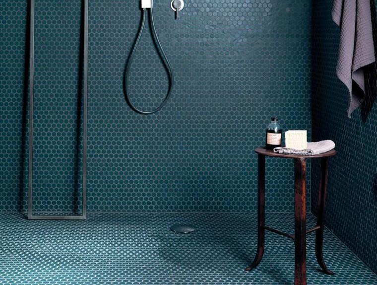 azulejos forma mosaico circulos aguamarina