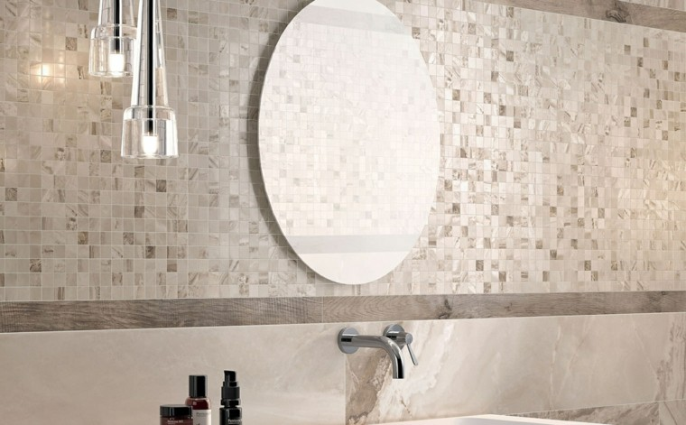 azulejos baño mosaico color beige
