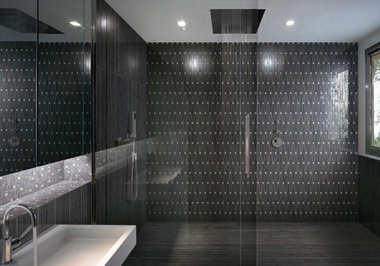 azulejos oscuros motivos formas zigzag