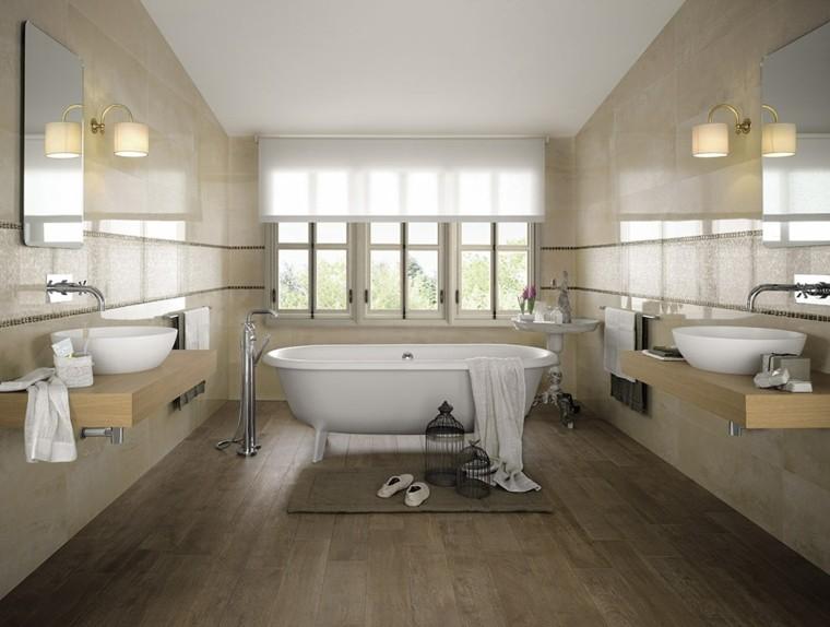 Baños Blanco Con Beige:Azulejos para baños modernos – cien ideas geniales