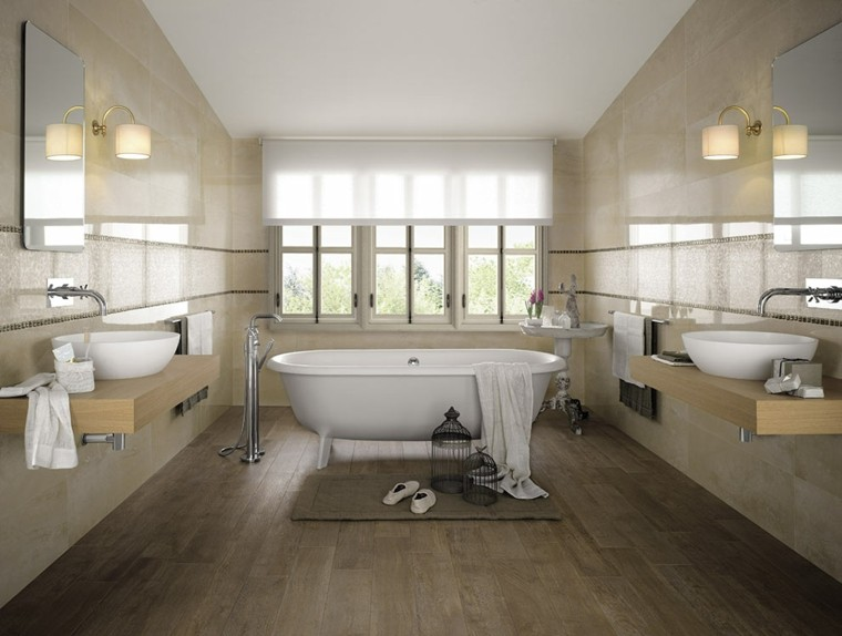 Azulejos para ba os modernos cien ideas geniales for Azulejos para cuartos de bano modernos
