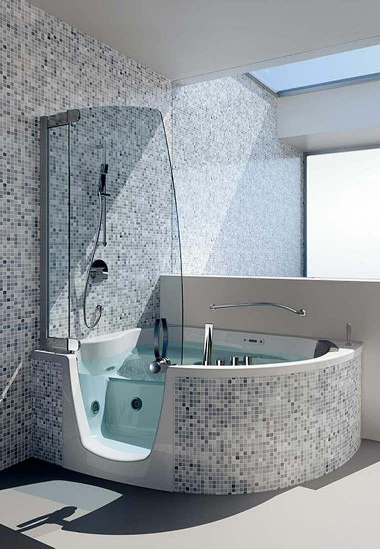 bañera moderna ducha hidromasaje mosaicos