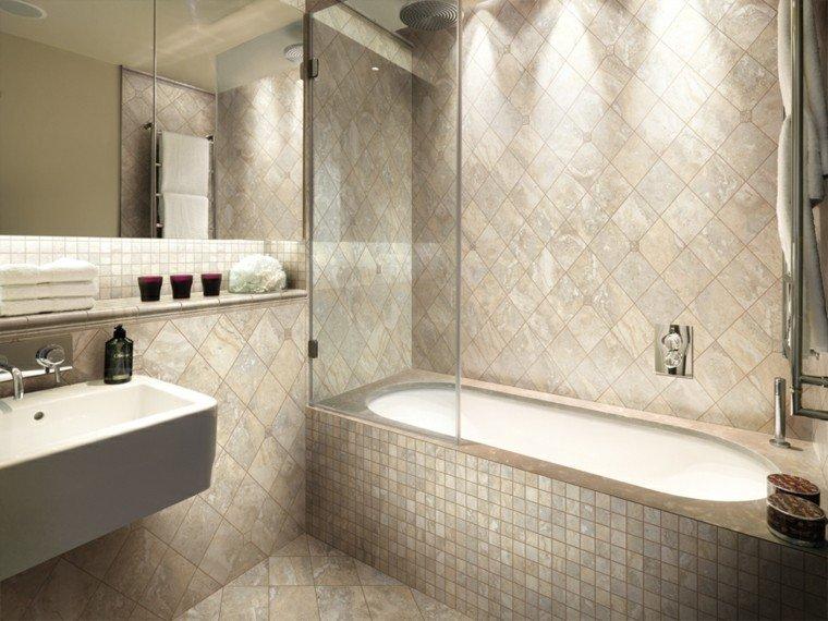 baño color beige estilo moderno