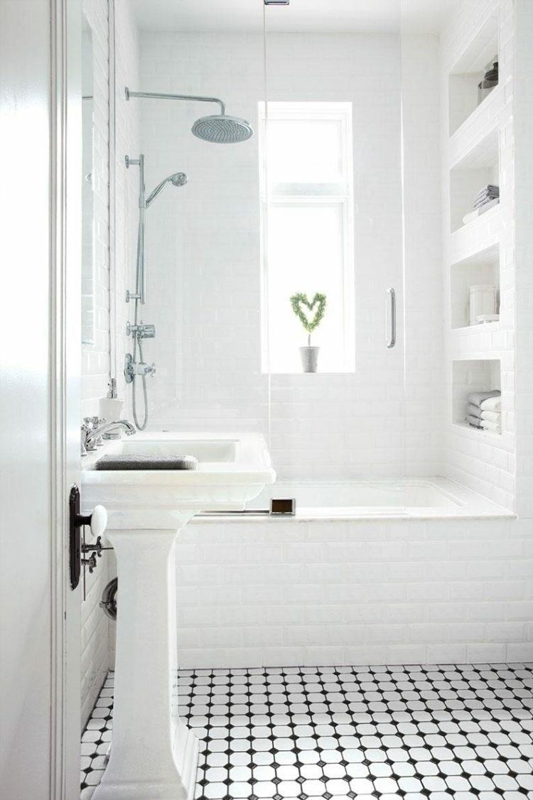 baño color blanco planta corazon