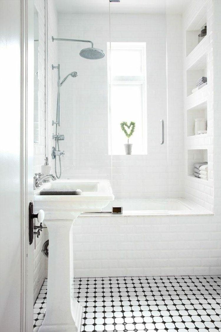 Baño Azulejos Blancos:Baños pequeños – veinticinco diseño a la última