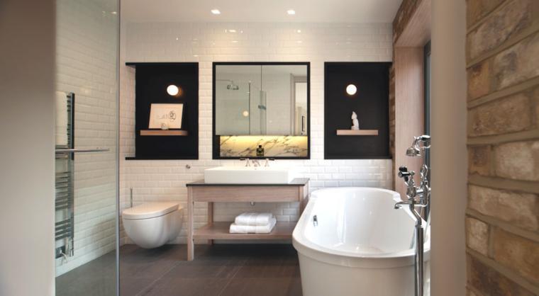 Dise o de ba os modernos 60 ideas fant sticas for Diseno de habitacion con bano y cocina