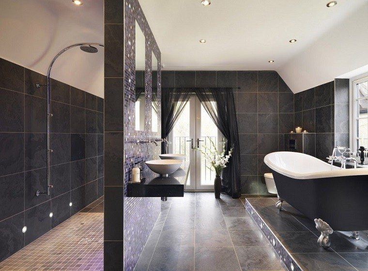Baños Grandes Lujosos:Diseño de baños modernos – 60 ideas fantásticas