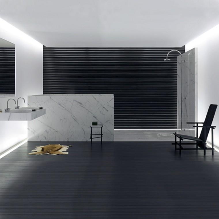 diseño de baños negro marmol