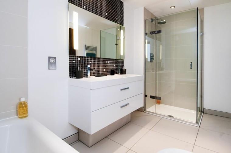 baño estilo moderno cabina ducha