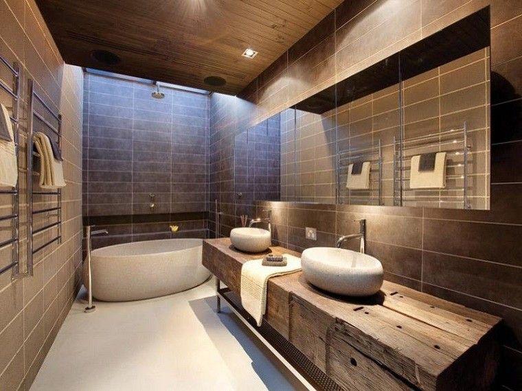 baño moderno diseño madera maciza