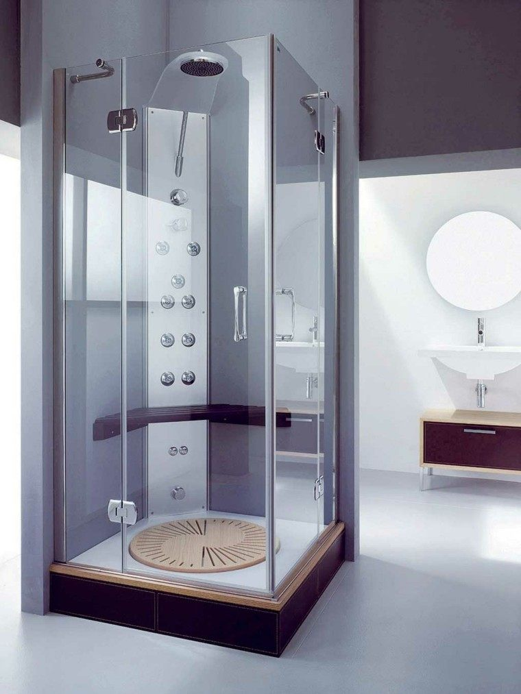 baño pequeño cabina ducha cristal