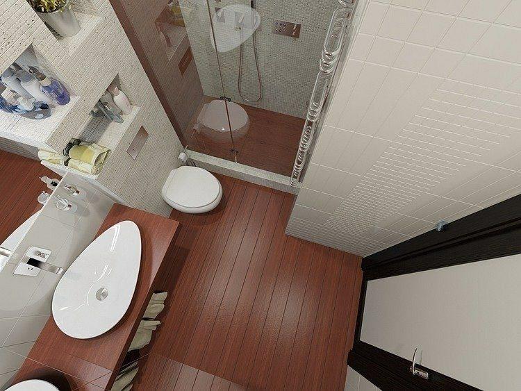 baños pequeños suelo madera
