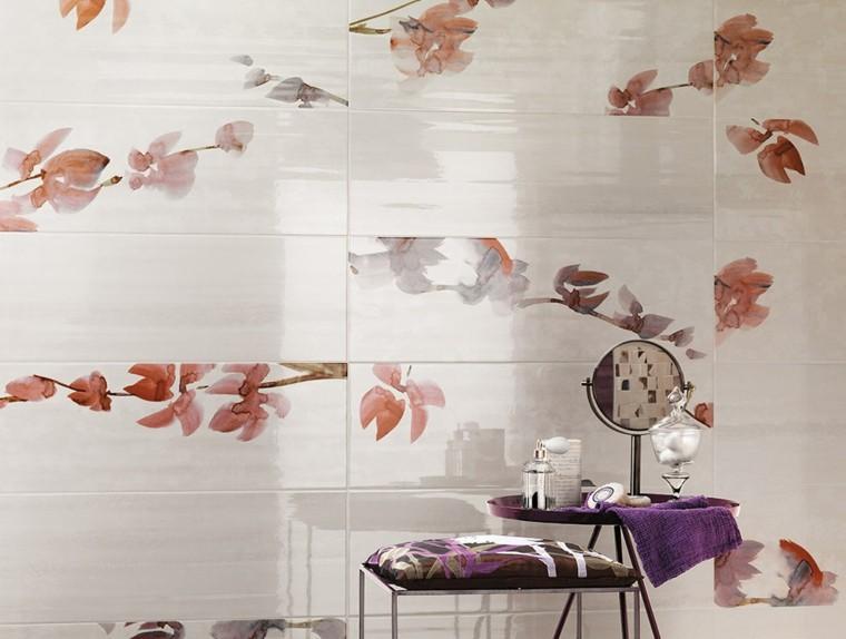 Baños Con Azulejos Rosas:baño color rosa azulejos flores
