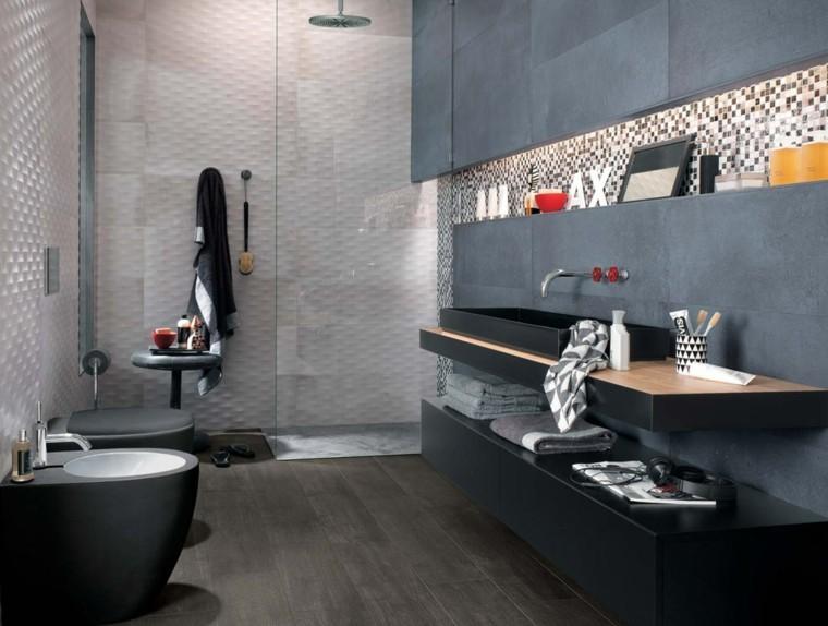 baño estilo moderrno color gris