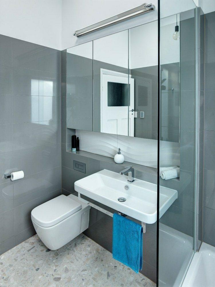 Diseno De Interiores Baños Pequenos Modernos:Cuarto de baño pequeño de color naranja