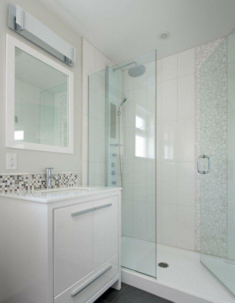baños pequeños mosaico color gris