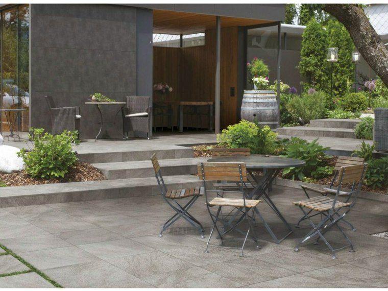 Baldosas para el jard n moderno 50 ideas preciosas - Azulejos rusticos para patios ...