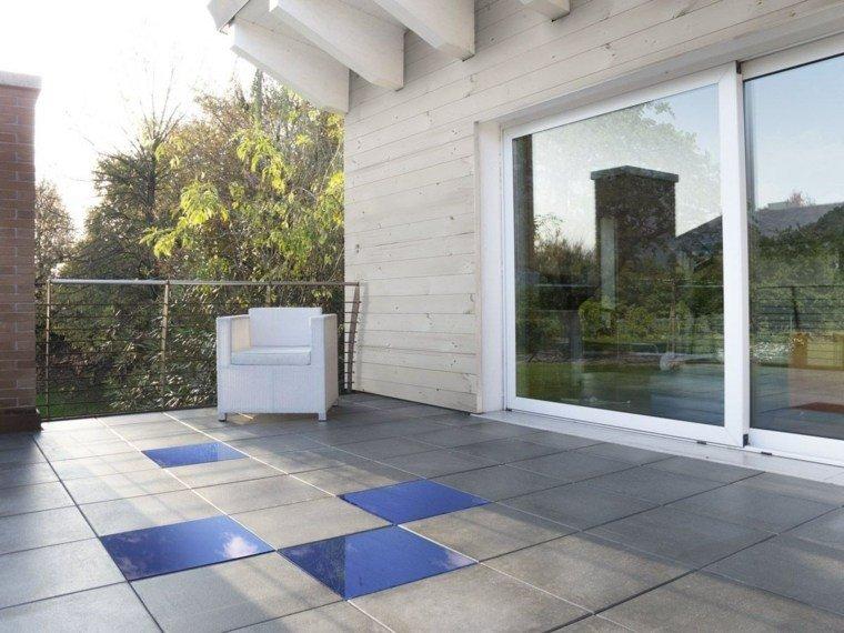 Baldosas para el jard n moderno 50 ideas preciosas - Azulejos de terraza ...
