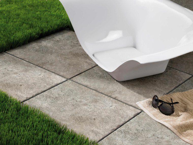 Baldosas para el jard n moderno 50 ideas preciosas - Como poner baldosas en el piso ...