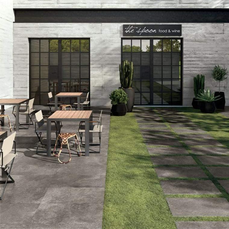 Baldosas para el jard n moderno 50 ideas preciosas - Losas de hormigon para jardines ...
