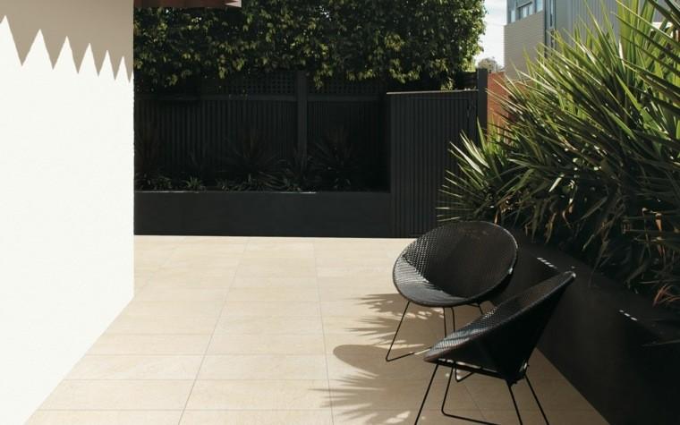 Baldosas para el jard n moderno 50 ideas preciosas for Baldosas vinilicas pared
