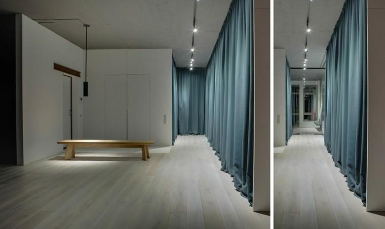 banco madera diseno casa luces