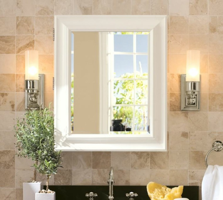 Interiores minimalistas ba os modernos y elegantes for Espejos para banos easy