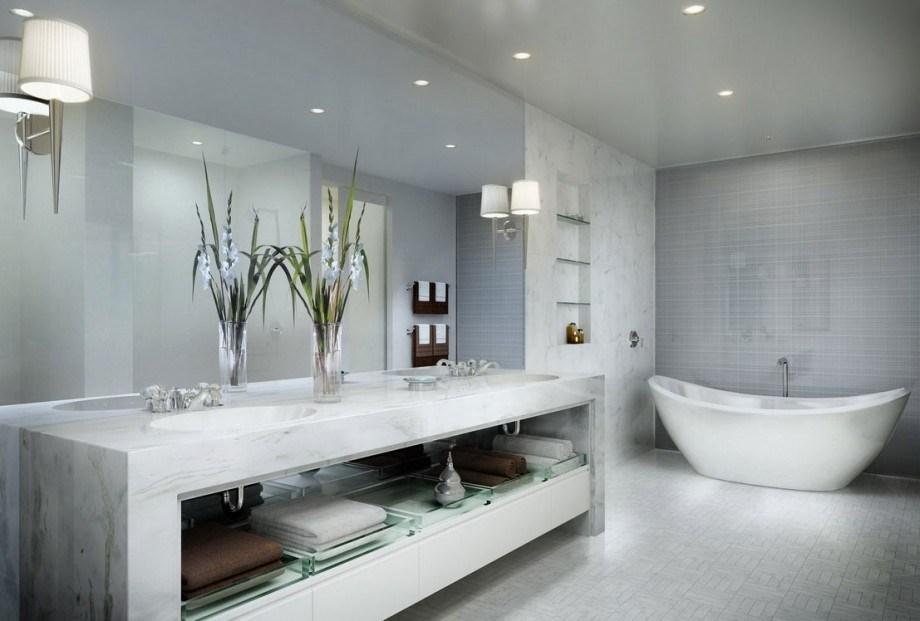Baños Elegantes Y Modernos | Interiores Minimalistas Banos Modernos Y Elegantes