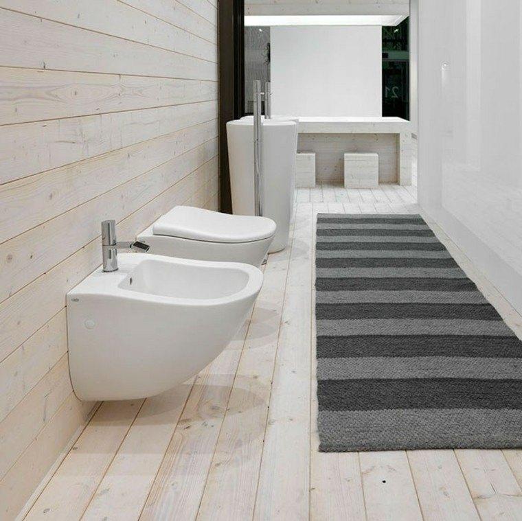 bano largo suelo pared madera alfombra ideas