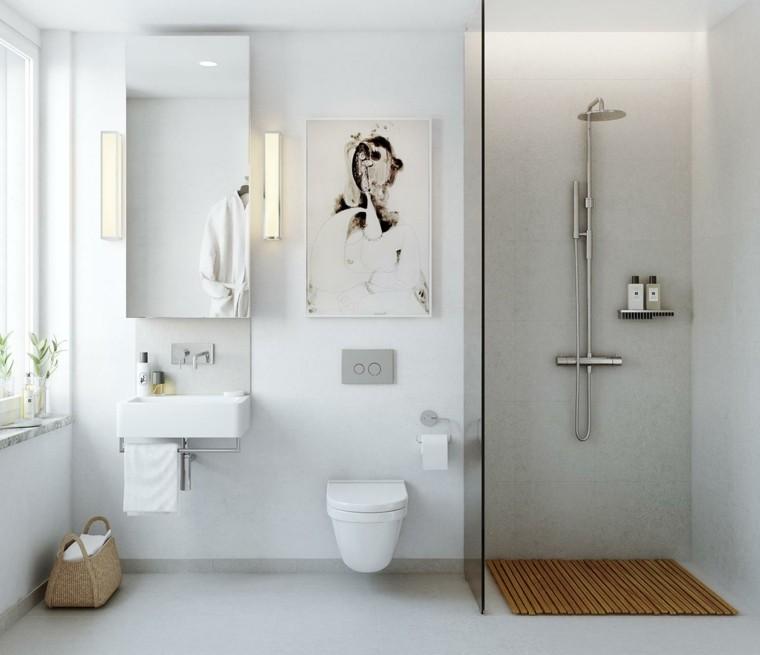 bano moderno mampara ducha blanco ideas