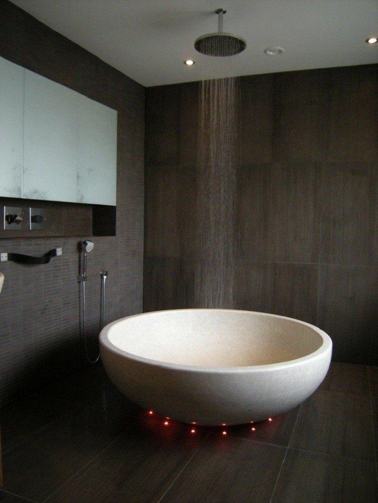 Interiores minimalistas ba os modernos y elegantes for Banos modernos oscuros