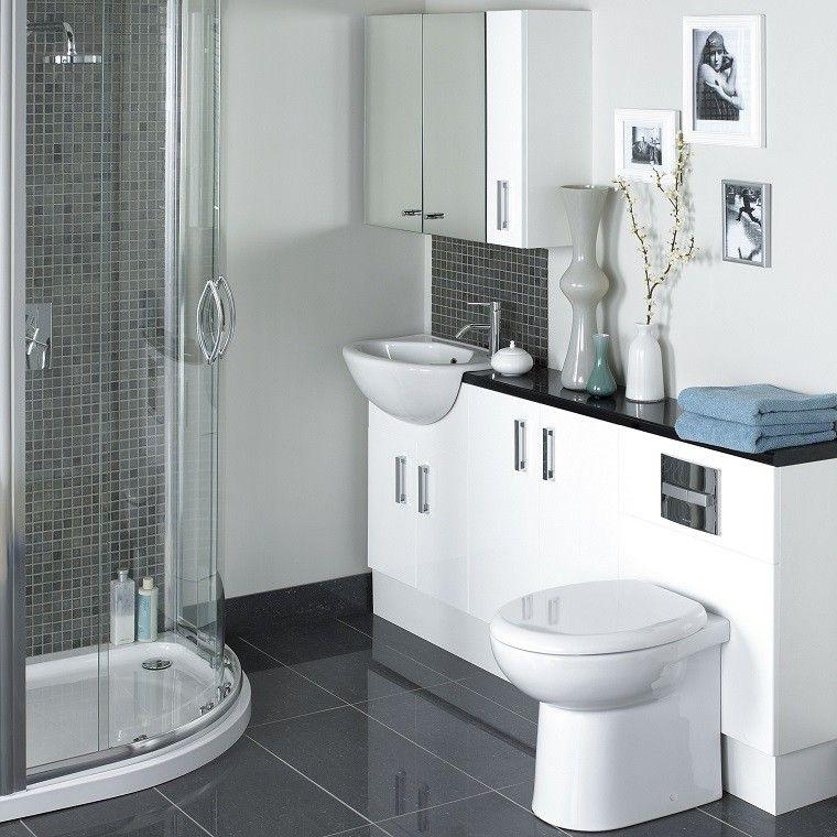 accesorios baños pequeños jarrones distintos tamanos colores ideas modernos