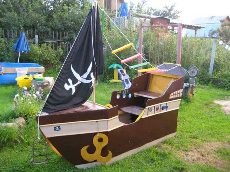 barco pirata infantil jardin juegos