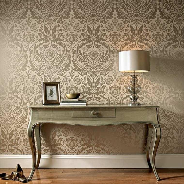barroco papel pared oro lujoso precioso ideas