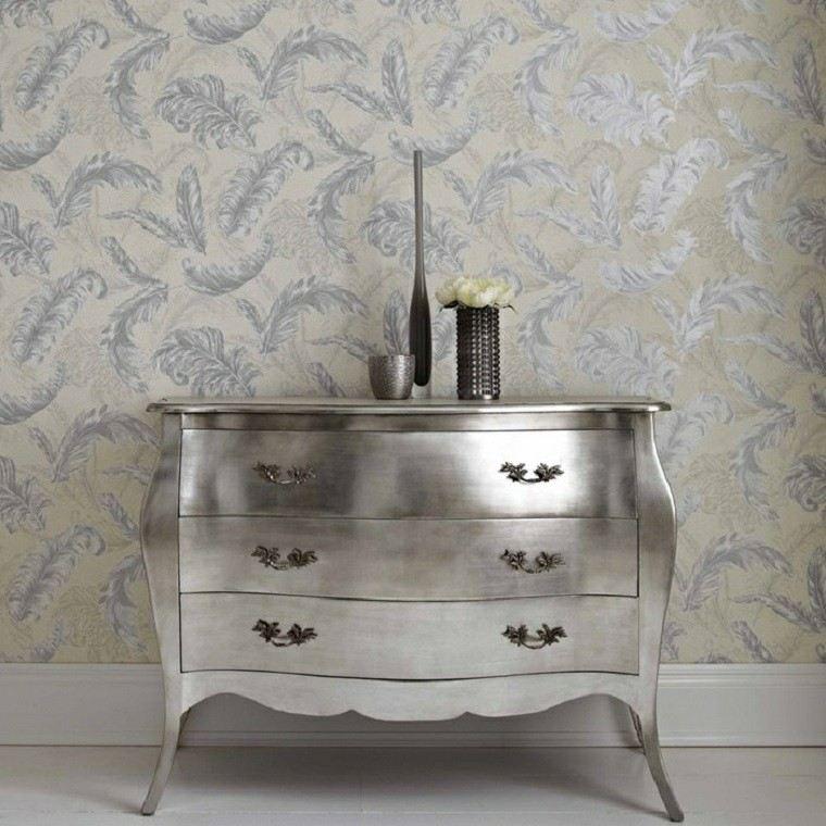 barroco papel pared plata armario precioso ideas