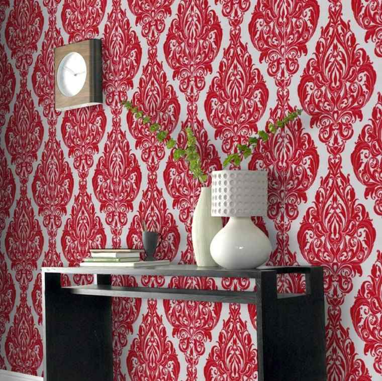 barroco papel pared salon moderno reloj ideas