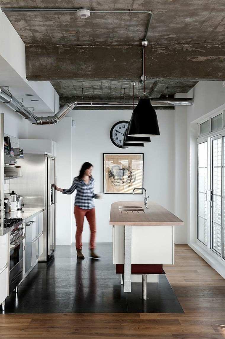 Dise o industrial cocinas modernas y originales for Diseno estilo industrial