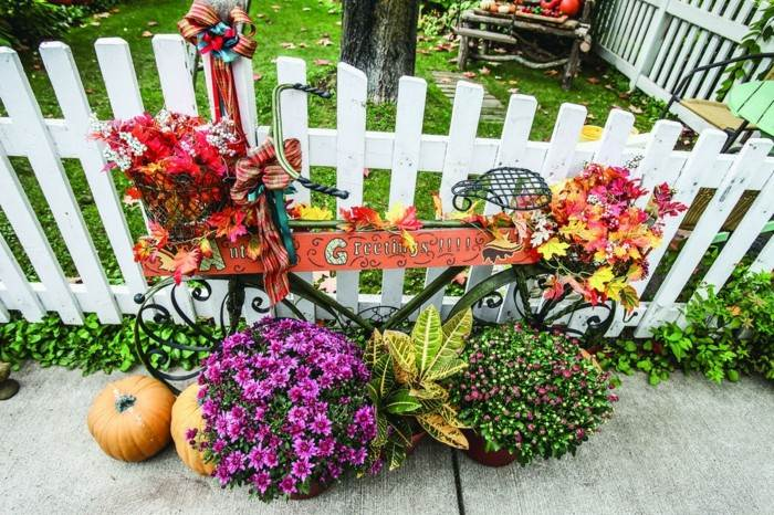 bicicleta plantas cartel colores