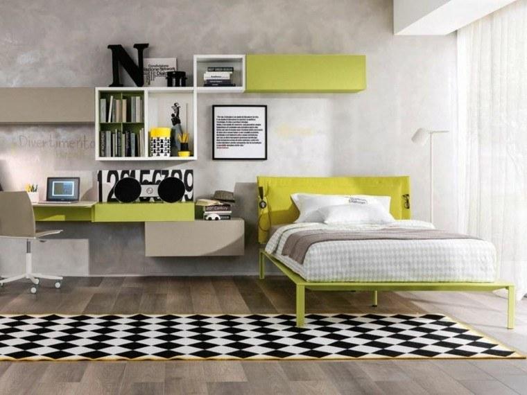 blanco negro alfombra pared decorada ideas