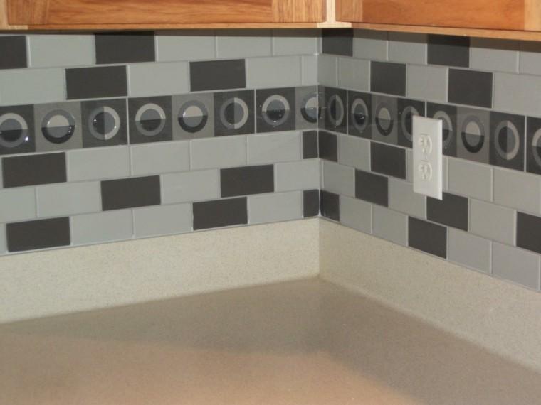 blanco negro creativo encimeras estantes