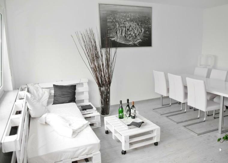 blanco sofa pallet creativo cuadros
