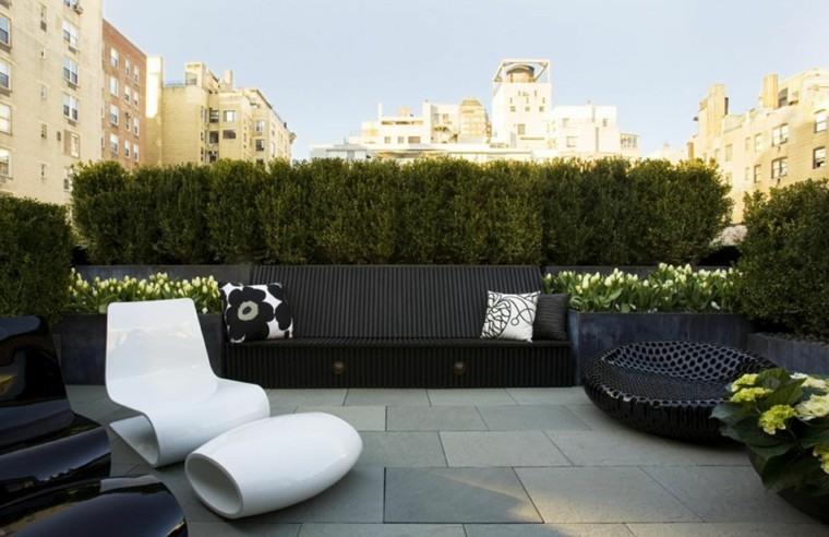 blanco tumbona patio muebles cojines